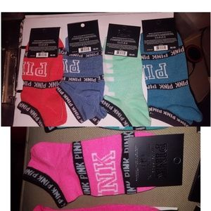 5 pairs of Victoria Secret Socks PINK